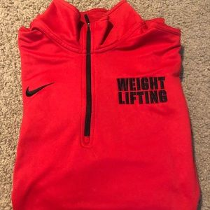 Weightlifting zip up sweater